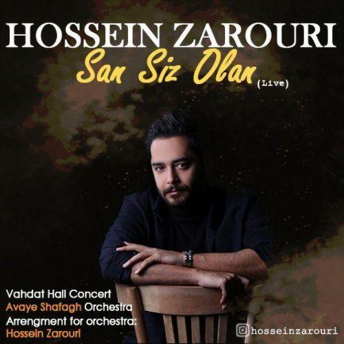 دانلود آهنگ حسین ضروری به نام سن سیز اولان (اجرای زنده)